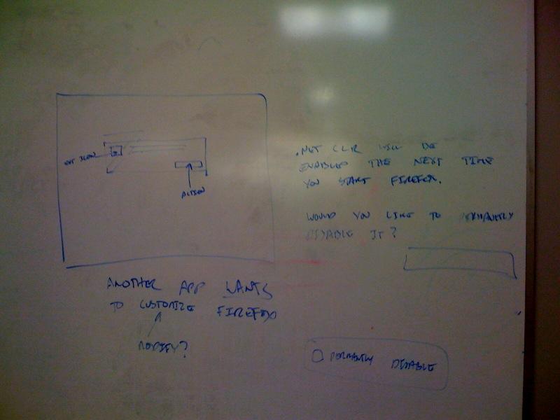 Whiteboard mockup
