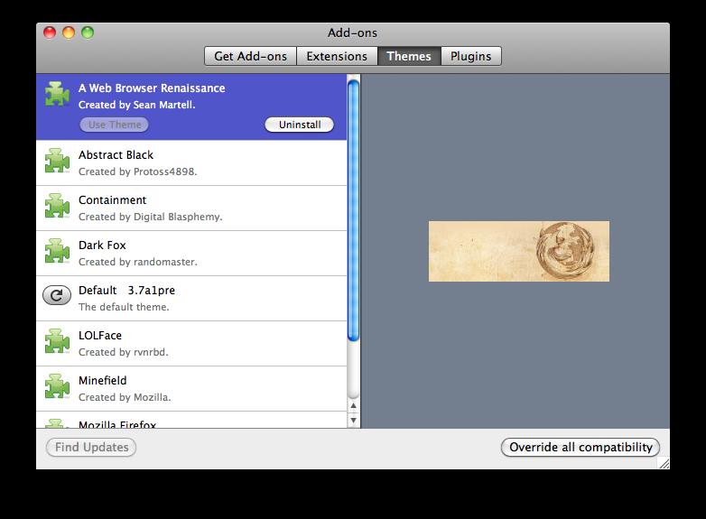 Lightweight themes UI
