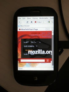 Firefox running on a Palm Pre